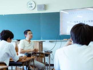 元石川高校で写真講座