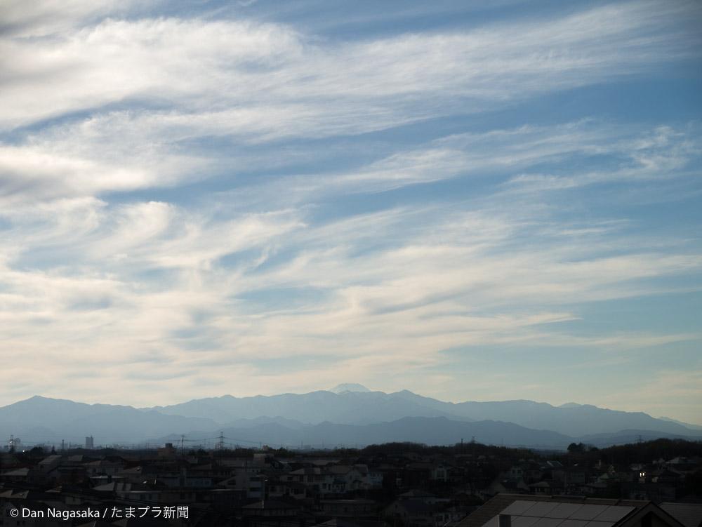 美しが丘2丁目からの富士山