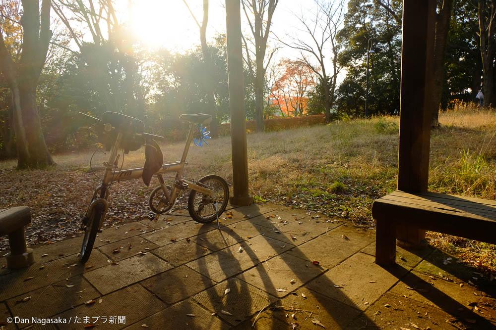東屋と自転車