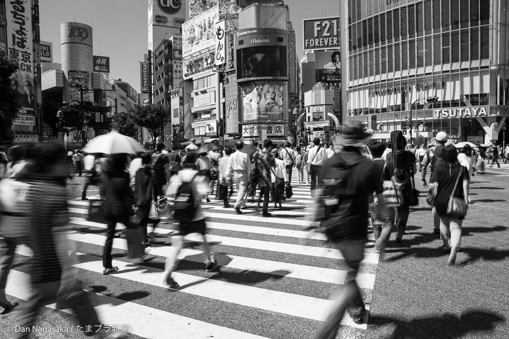 渋谷で撮った白黒写真ギャラリー – たまプラ新聞
