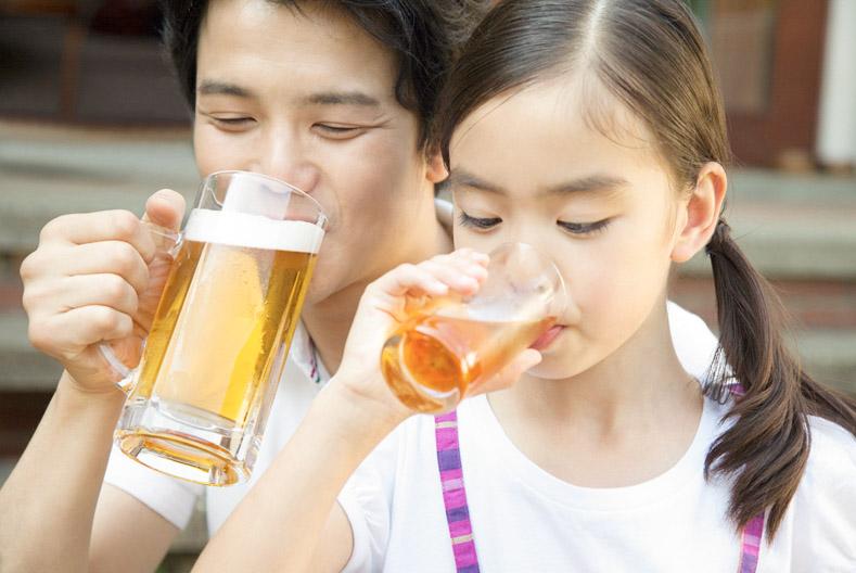親子で、ちょい飲み