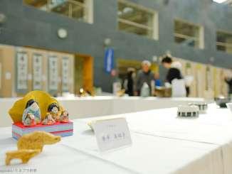 工芸作品の展示 区民ホール
