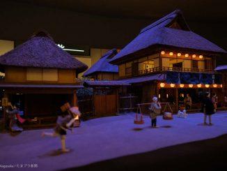 江戸時代の街のジオラマ