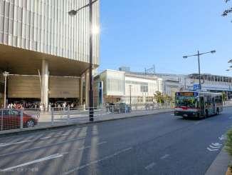 二子玉川駅西口と東急バス