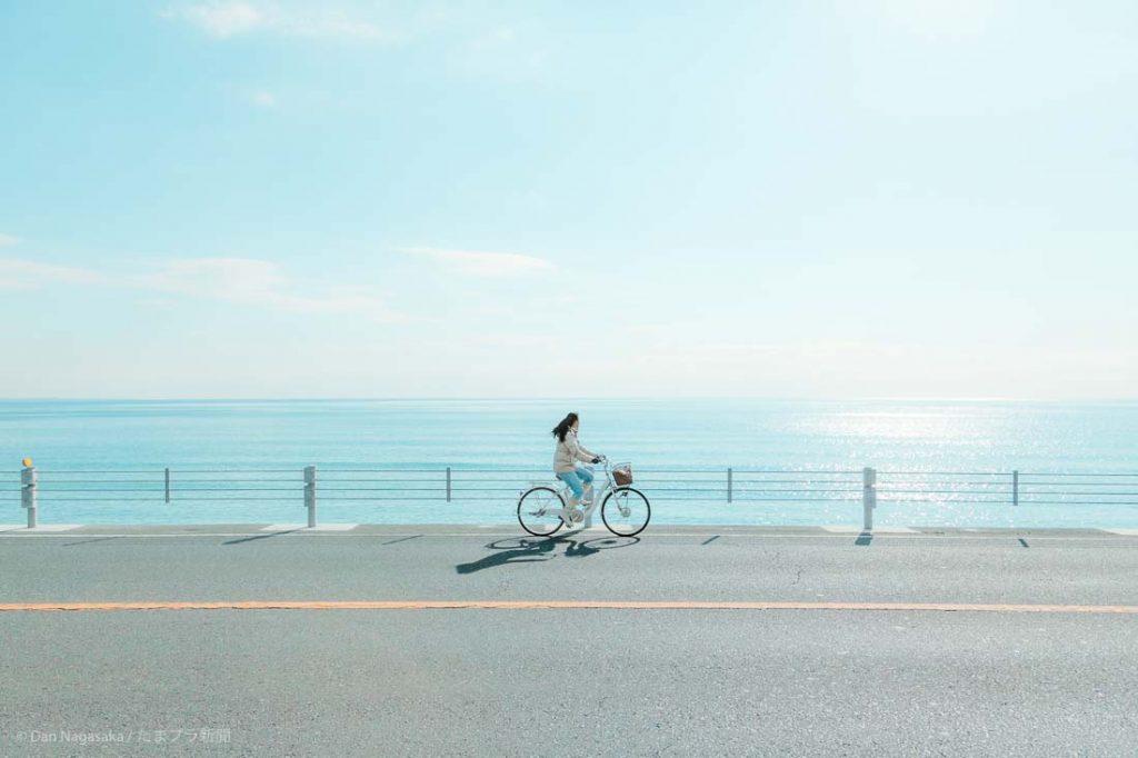 浜辺サイクリング