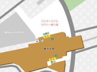藤が丘駅の構内図と周辺地図