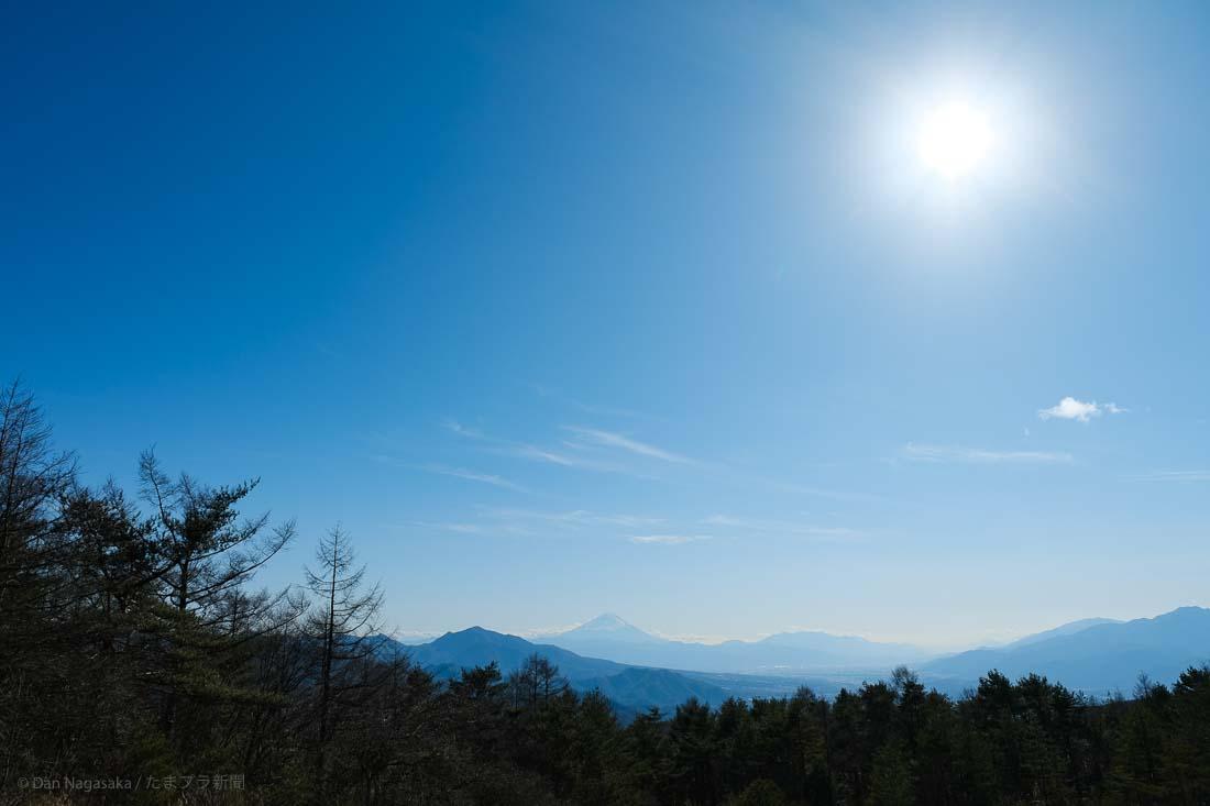 八ヶ岳からの富士山と太陽