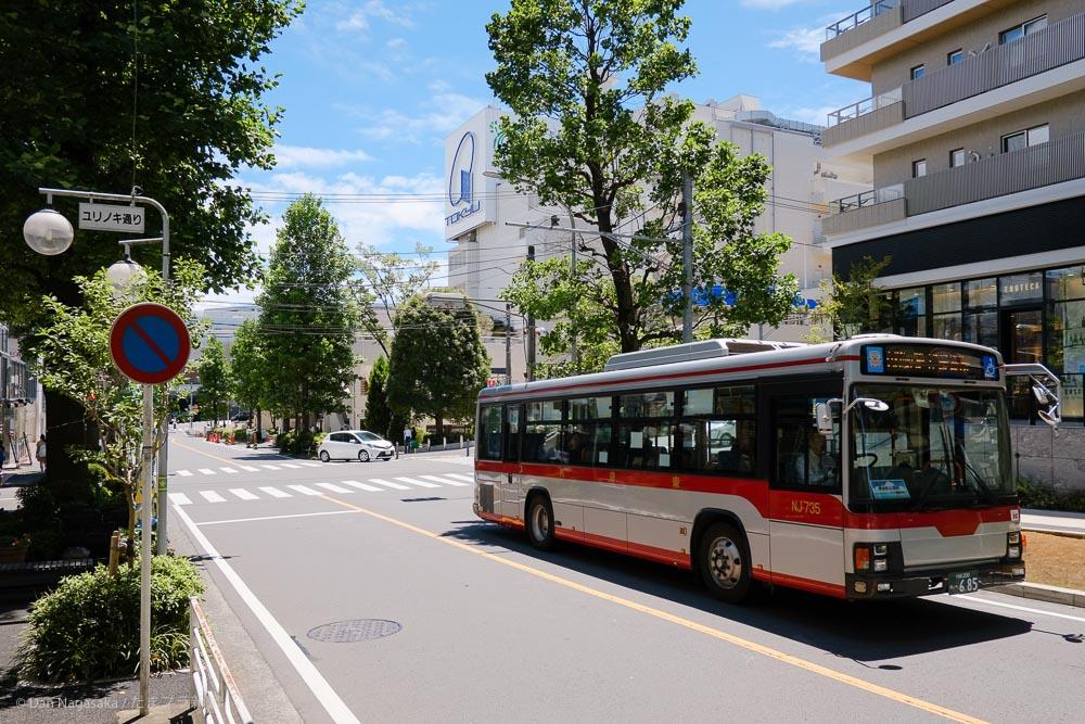 たまプラーザ ユリノキ通りと東急バス