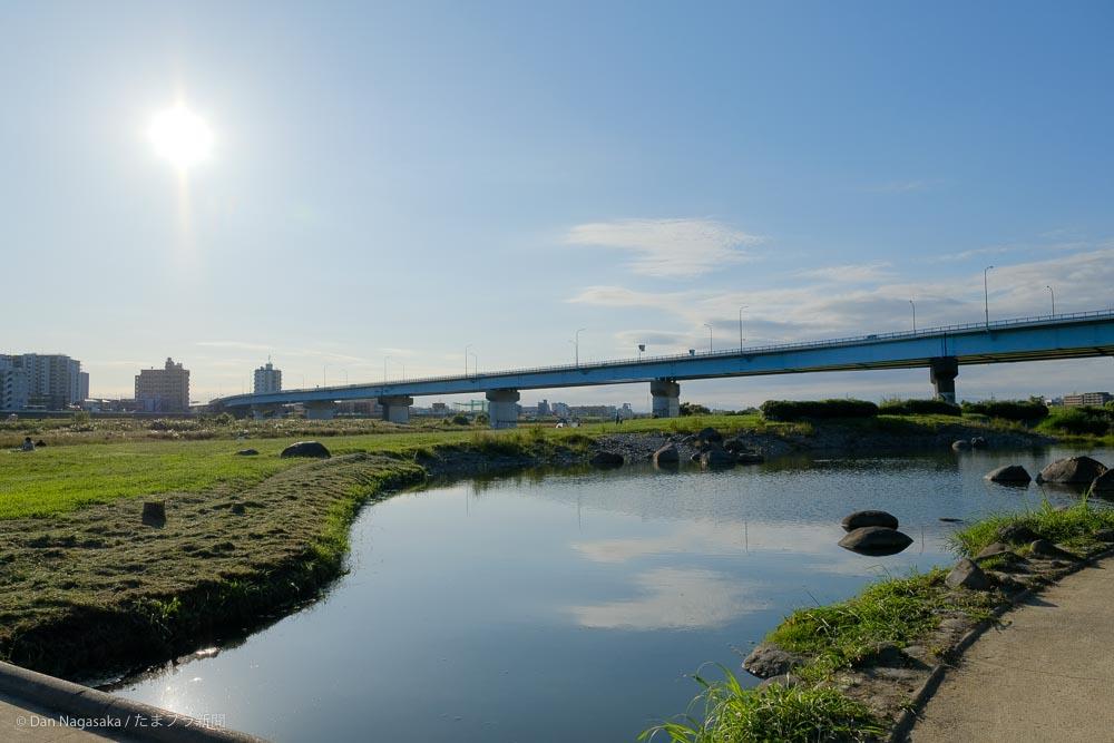 兵庫島公園と太陽と高速道路