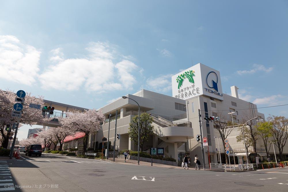 東急百貨店たまプラーザ店と桜