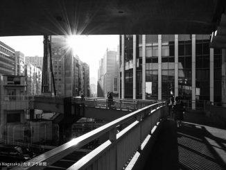 逆光写真 渋谷歩道橋