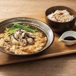 東京とろろそば「牡蠣たまそば」と「とろろ麦めし」